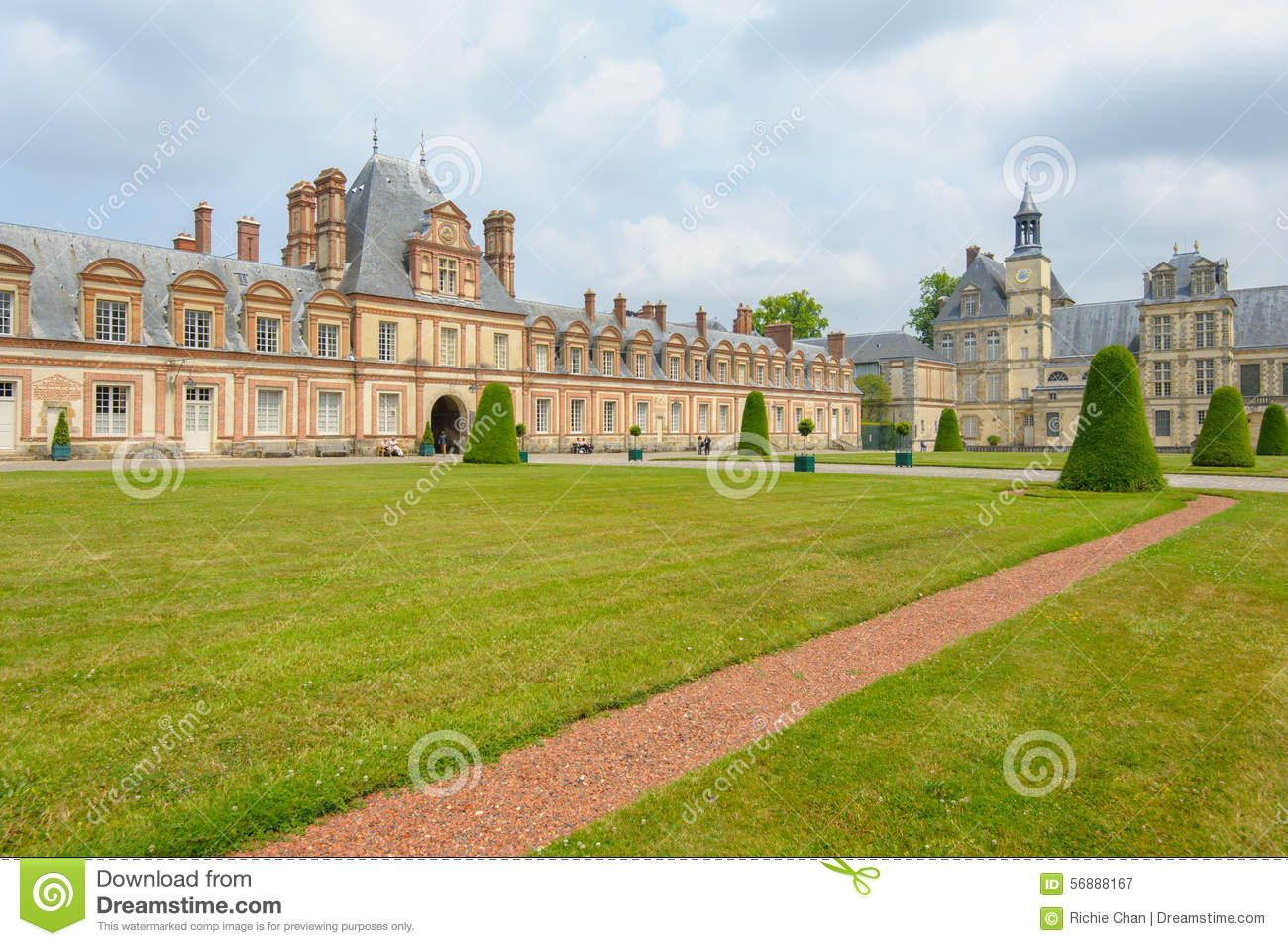 Palace of Fontainebleau in France