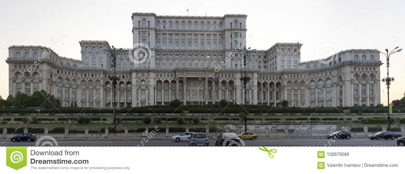 Palace of Parliament in the capital of Romania Bucharest