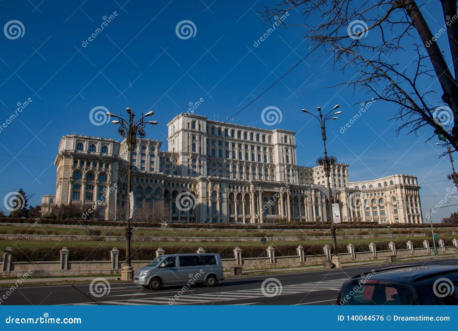 Palace of Parliament Bucharest, capital of Romania