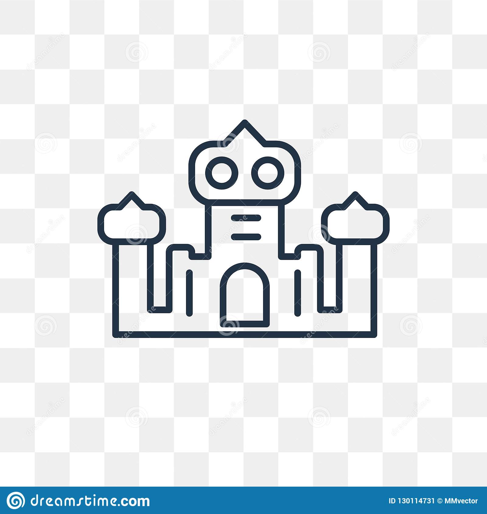 Palace Vector Icon Isolated On Transparent Background Linear Pa Stock Vector Illustration Of Construction Resort 130114731