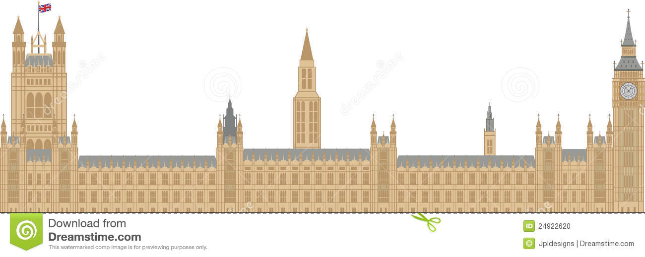 Palace Of Westminster Illustration Stock Vector