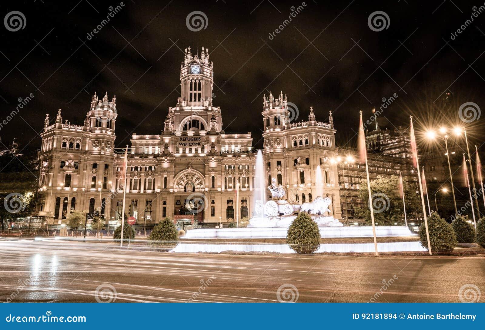 Palacio De Cibeles Madrid Editorial Stock Image Image Of