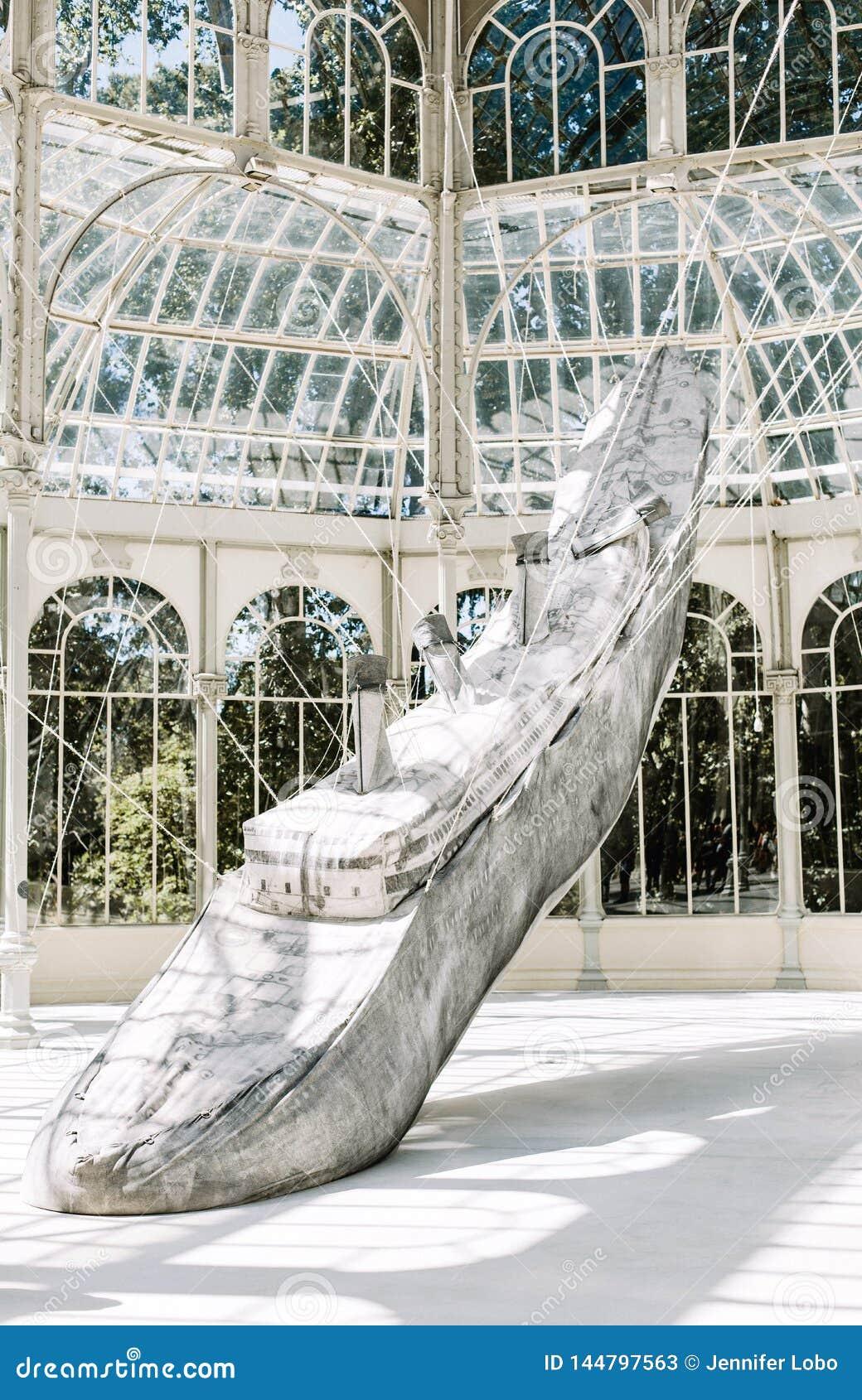 Palacio De Cristal в Мадриде, Испании