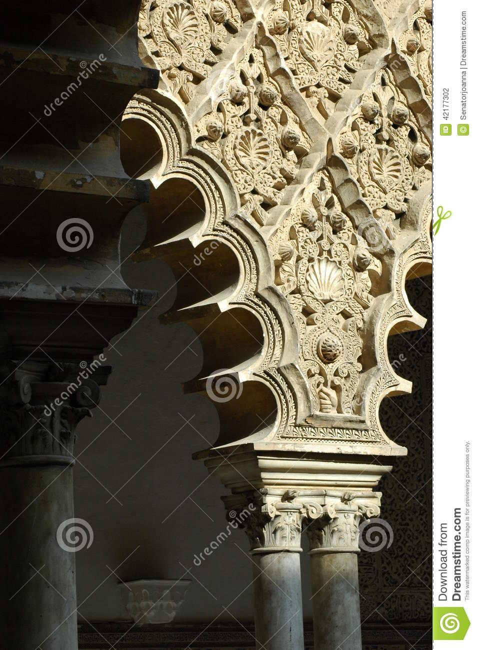 The Palacio De Generalife In Granada Stock Photo - Image of court