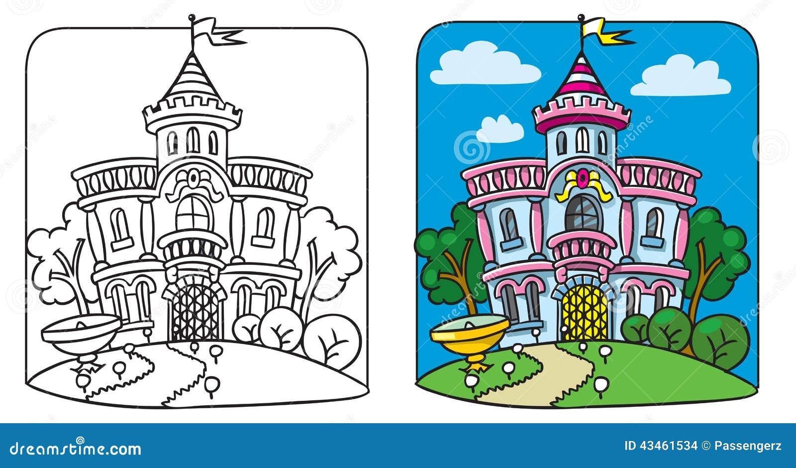 Palacio de hadas Libro de colorante