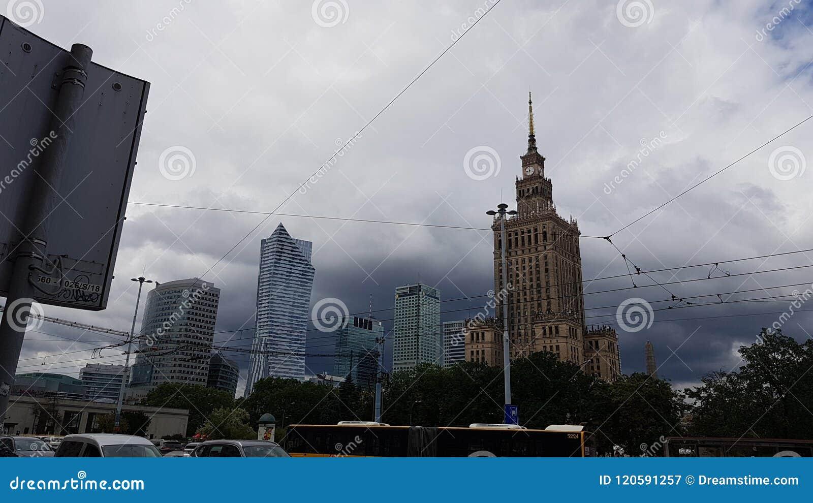 Palacio de la cultura en Varsovia