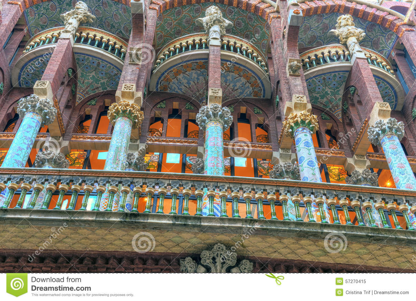 Palacio De La Musica Catalana Barcelona Cataluna Espana Imagen De