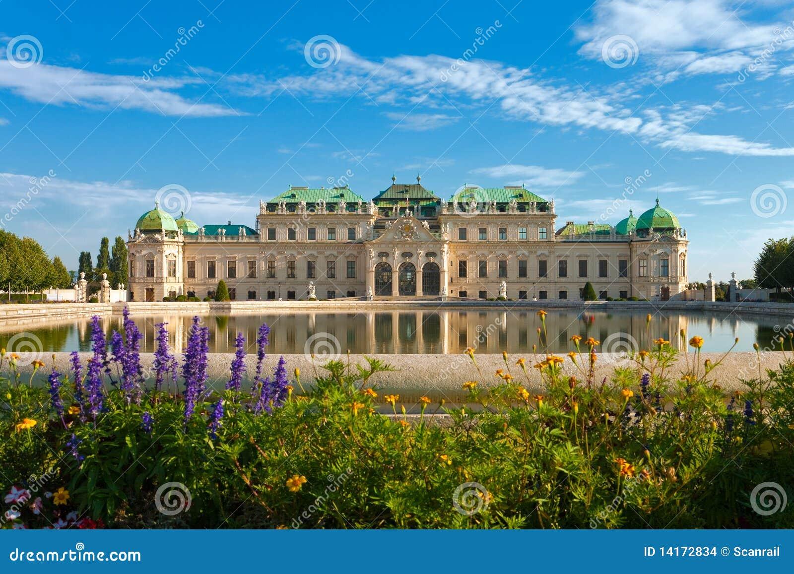Palacio del belvedere en Viena, Austria