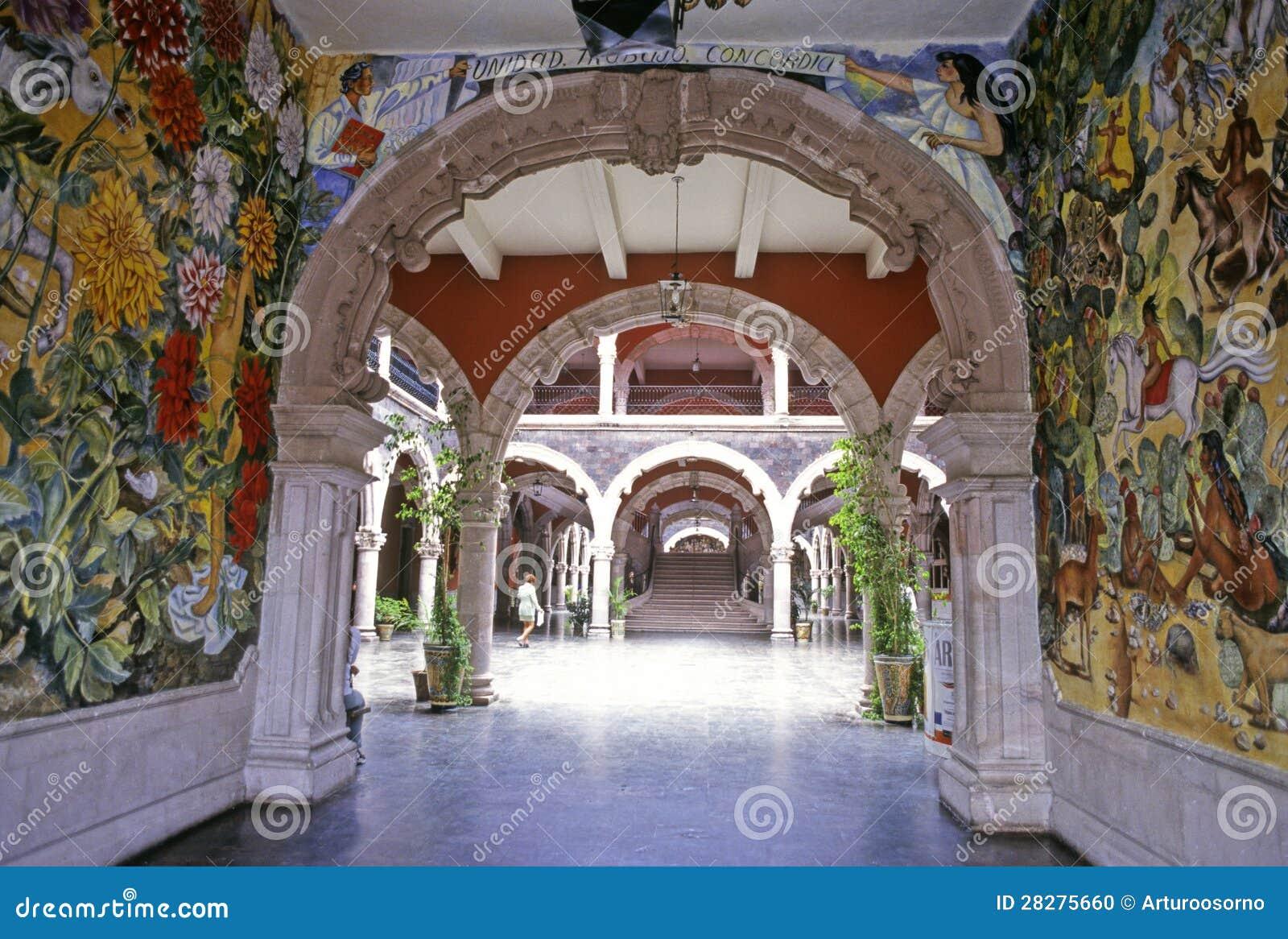 Palacio del gobierno de aguascalientes imagen editorial for Palacio de los azulejos mexico