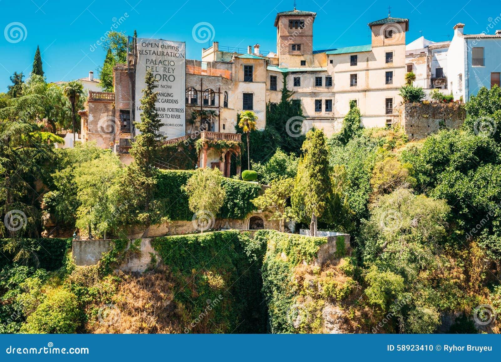 Palacio Del Rey Moro Und Hängende Gärten In Ronda Redaktionelles