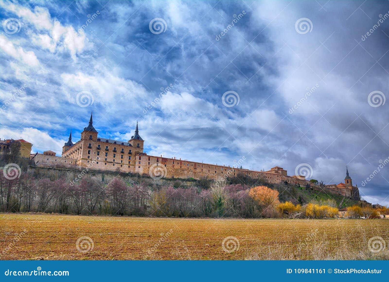 Palacio ducal en Lerma, el Castile y León españa