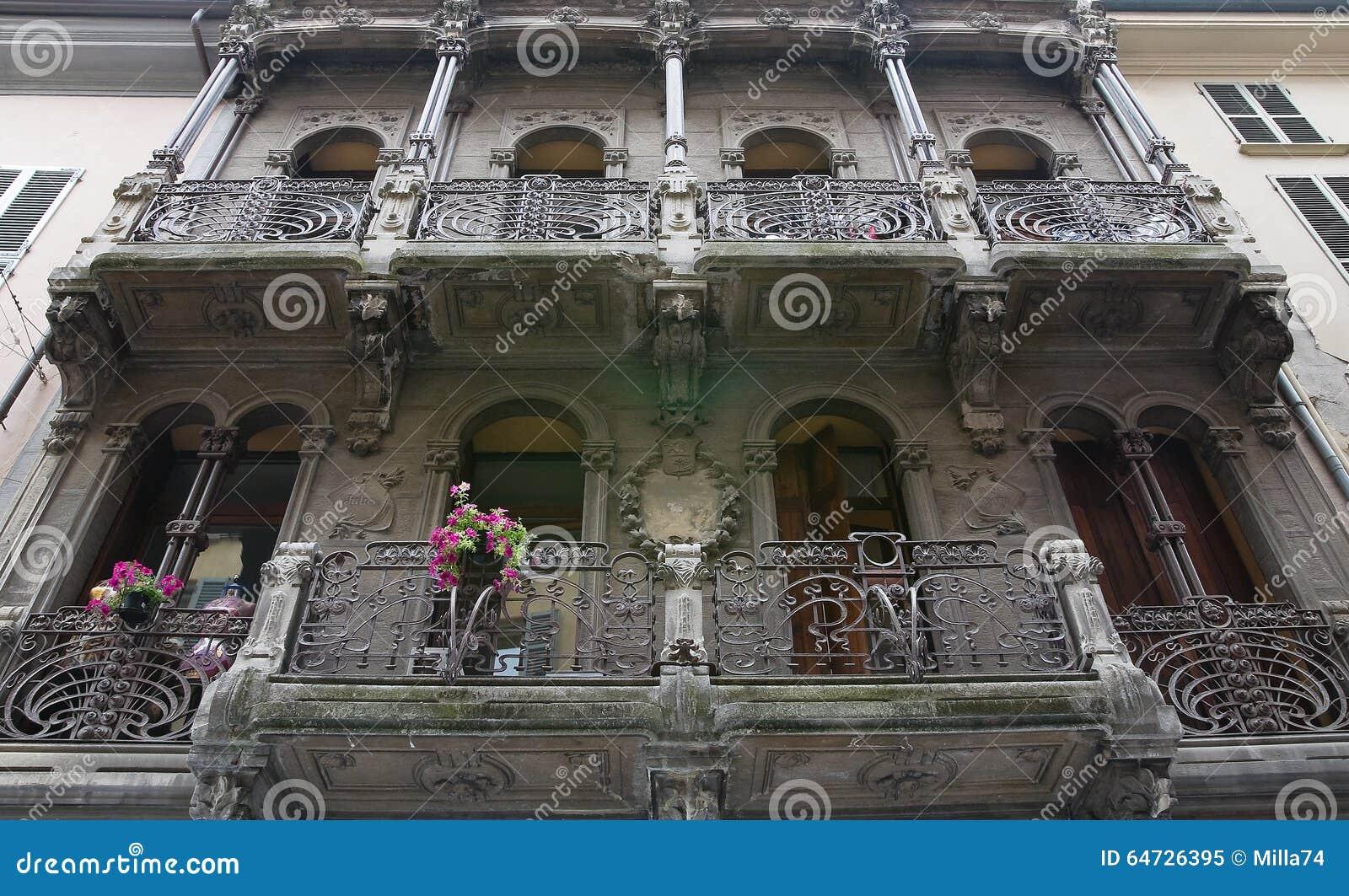 Palacio histórico Piacenza Emilia-Romagna Italia