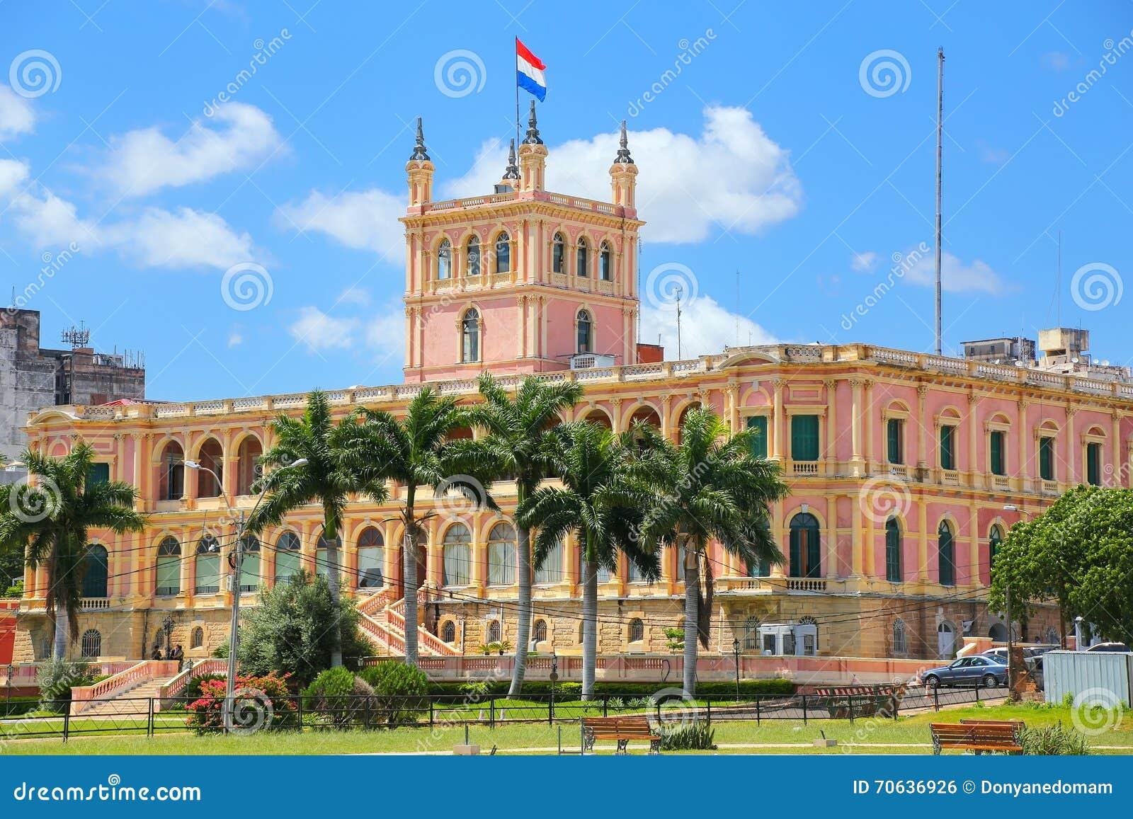 Palacio presidencial en Asuncion, Paraguay