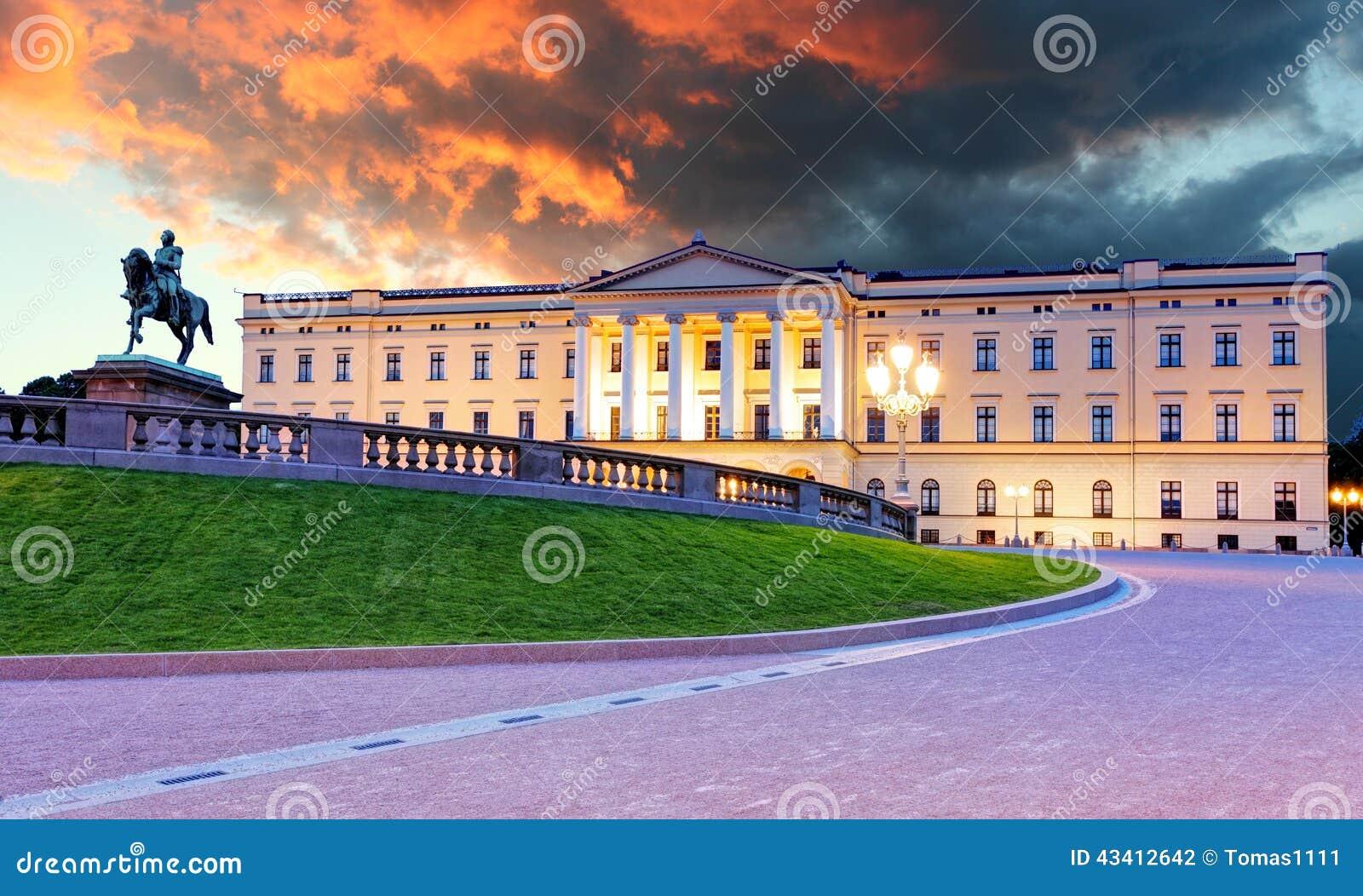 Palacio real en Oslo, Noruega