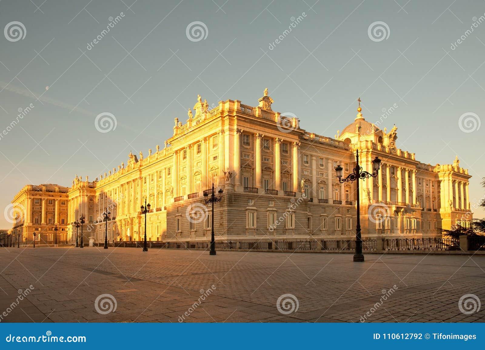 Palacio Real Royal Palace At Plaza De Oriente In Madrid Stock Photo