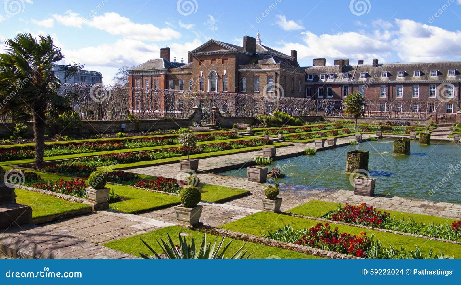 Palacio y jardines londres inglaterra reino unido de for Jardines de kensington