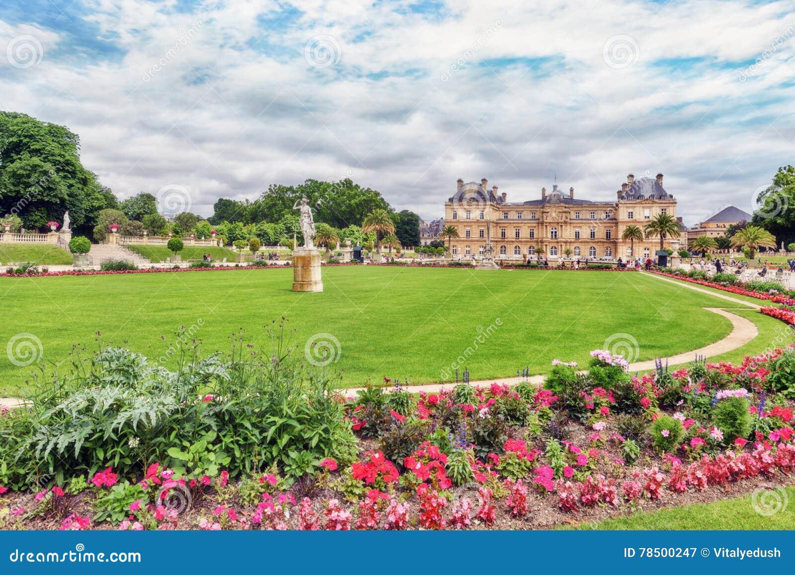 Palacio Y Parque De Luxemburgo En Par u00eds, El Jardin Du Luxemburgo, O Foto de archivo   Imagen