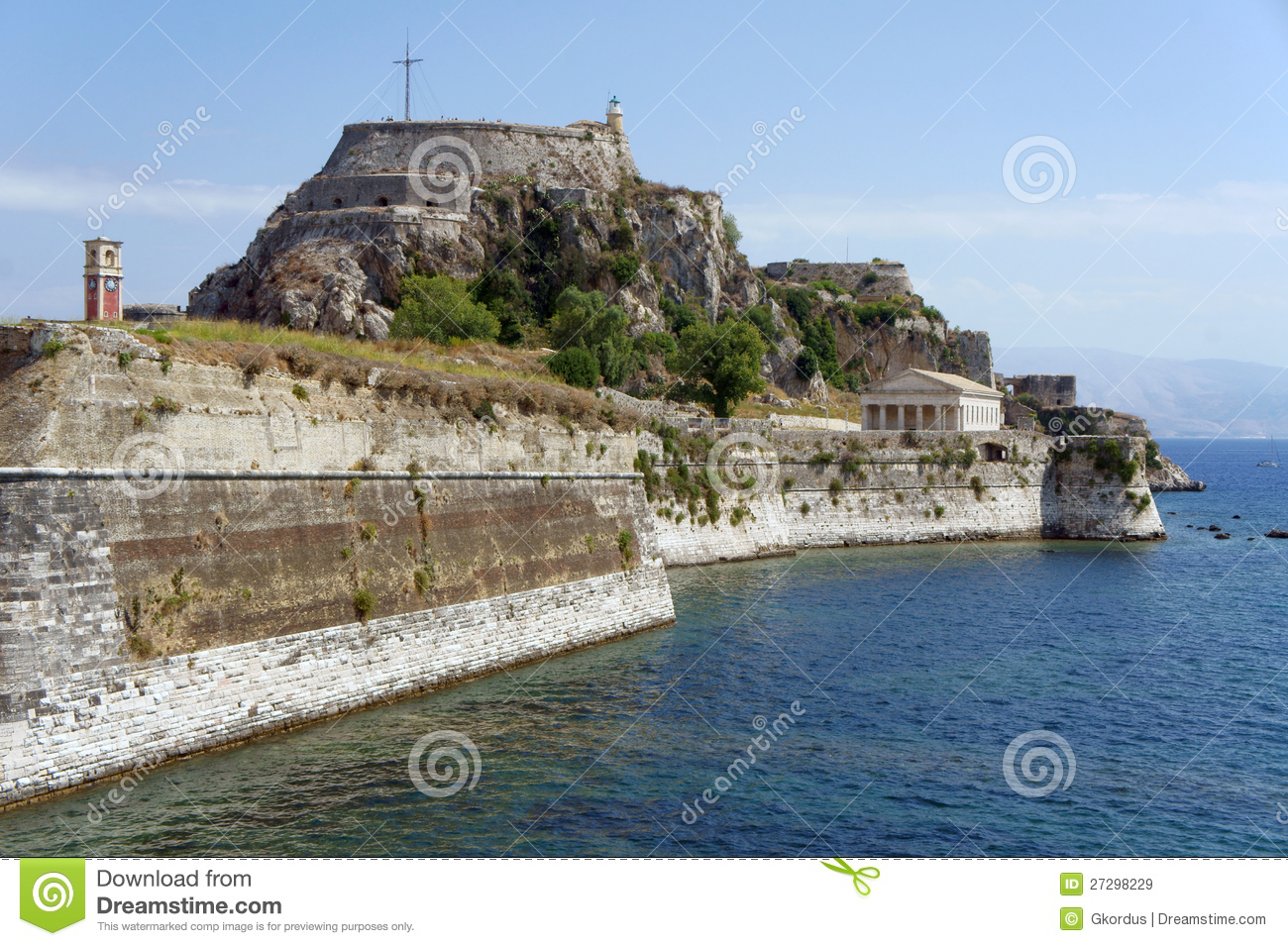 Palaio Frourio In City Of Corfu Royalty Free Stock Images ...
