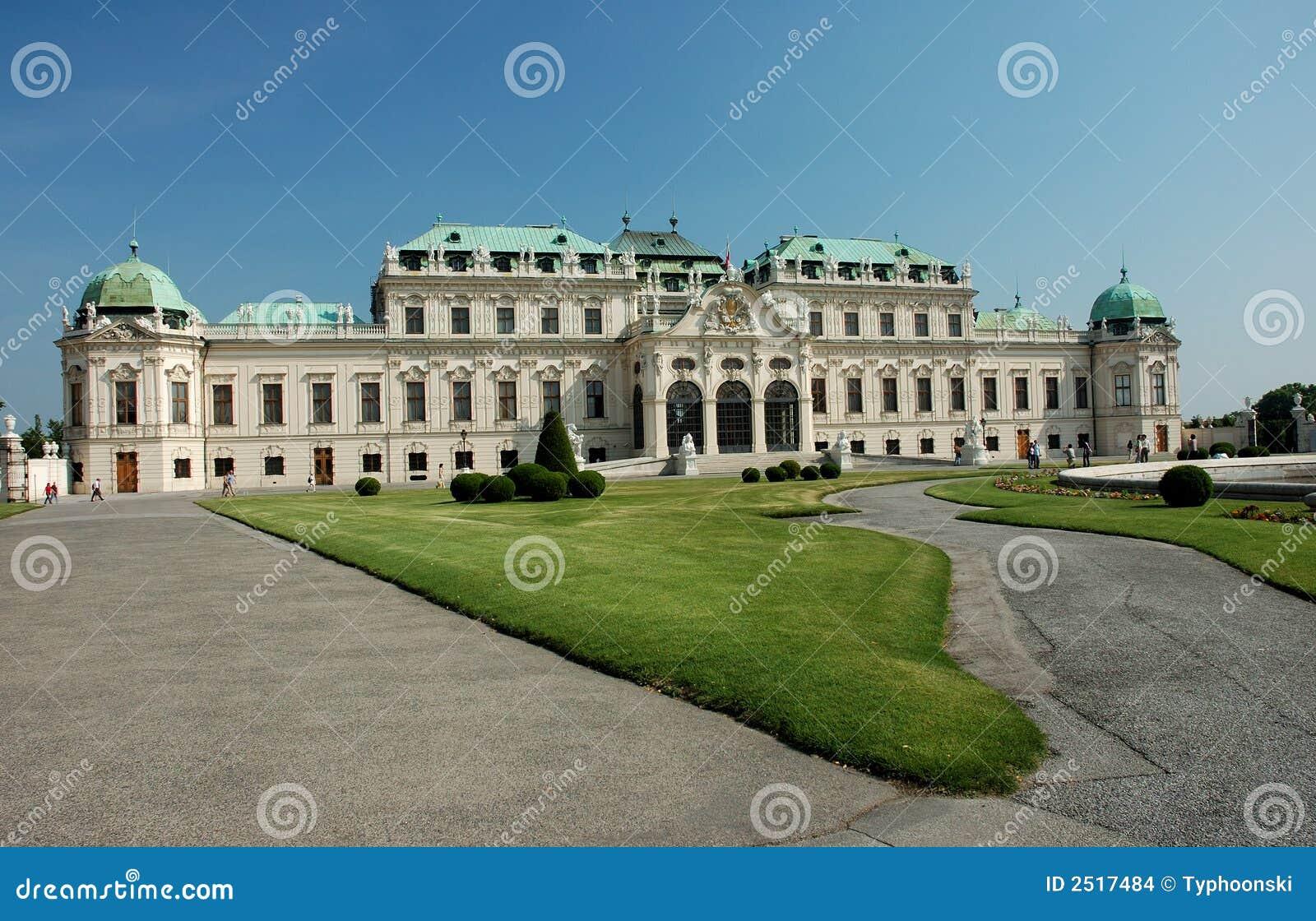 Palais de belvédère à Vienne