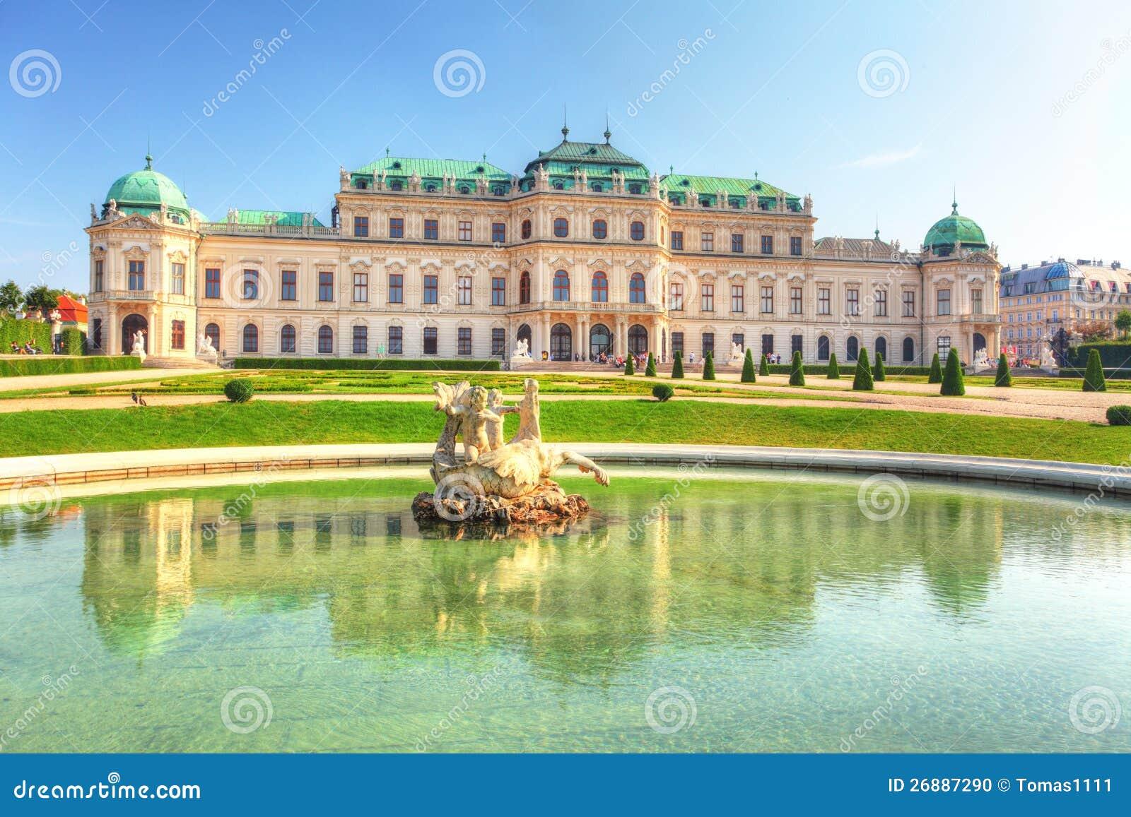 Palais de belvédère à Vienne - en Autriche