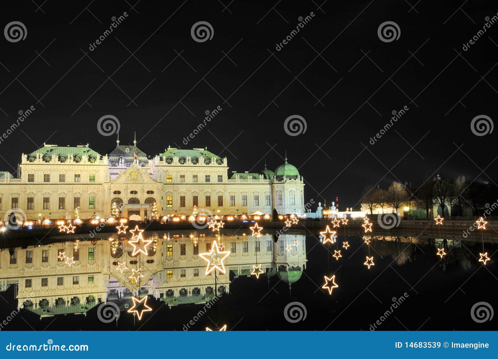 Palais de belvédère - Vienne par nuit