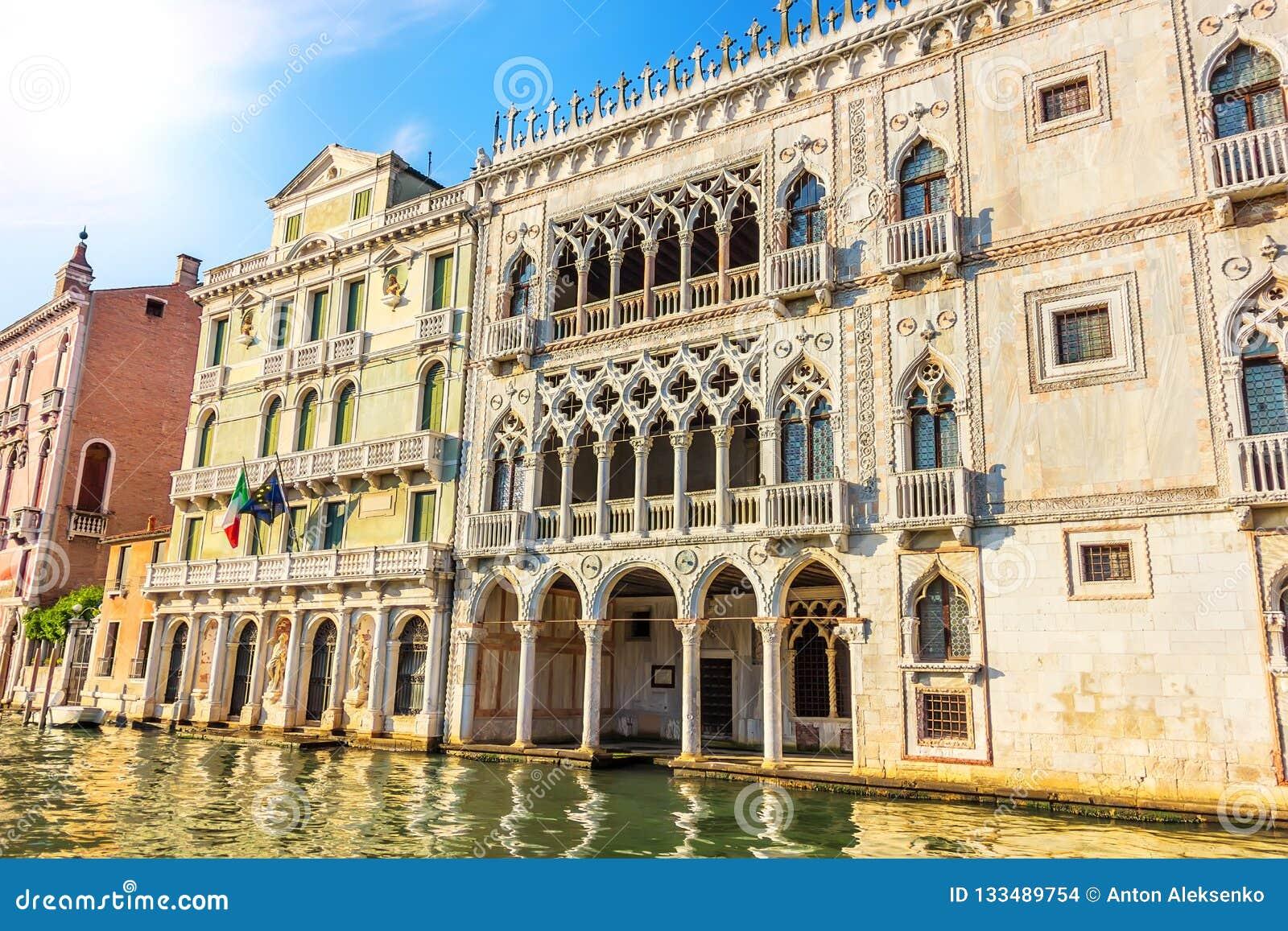 """Palais de Ca """"d """"Oro dans Grand Canal de Venise, Italie"""