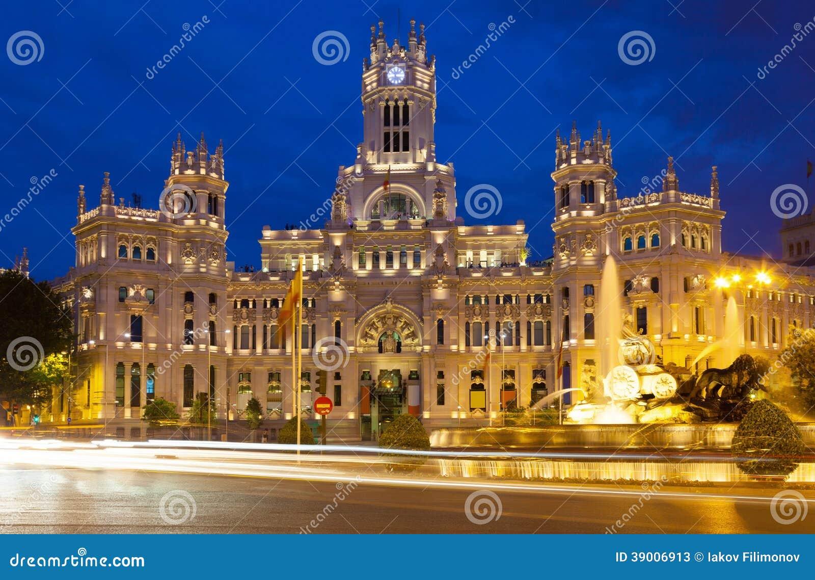 Ville Madrid  Espagne Vue En Ciel