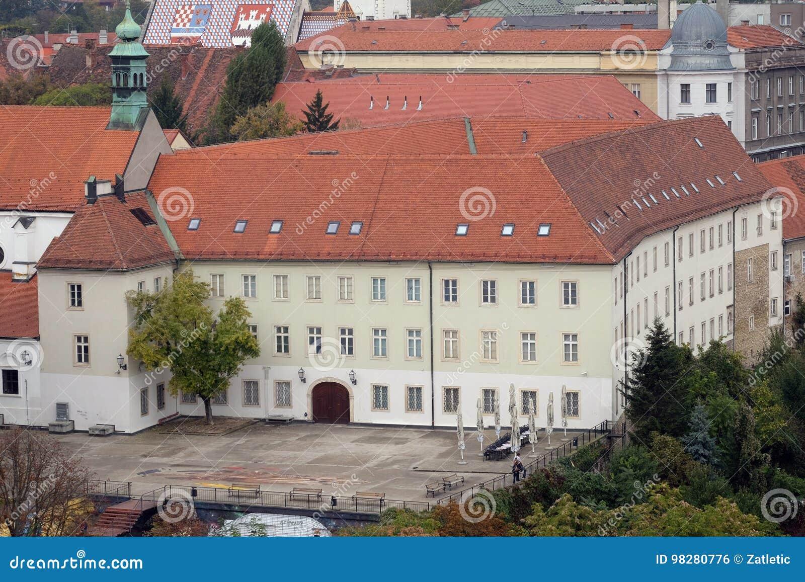 Palais de dvori de Klovicevi logeant la galerie d art moderne à Zagreb
