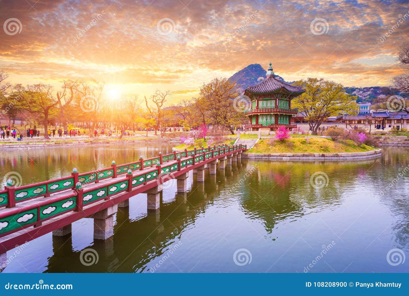 Palais de Gyeongbokgung au printemps, la Corée du Sud