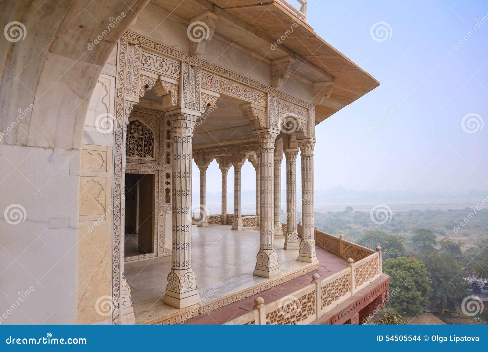 Palais de marbre blanc, fort d Âgrâ, Inde