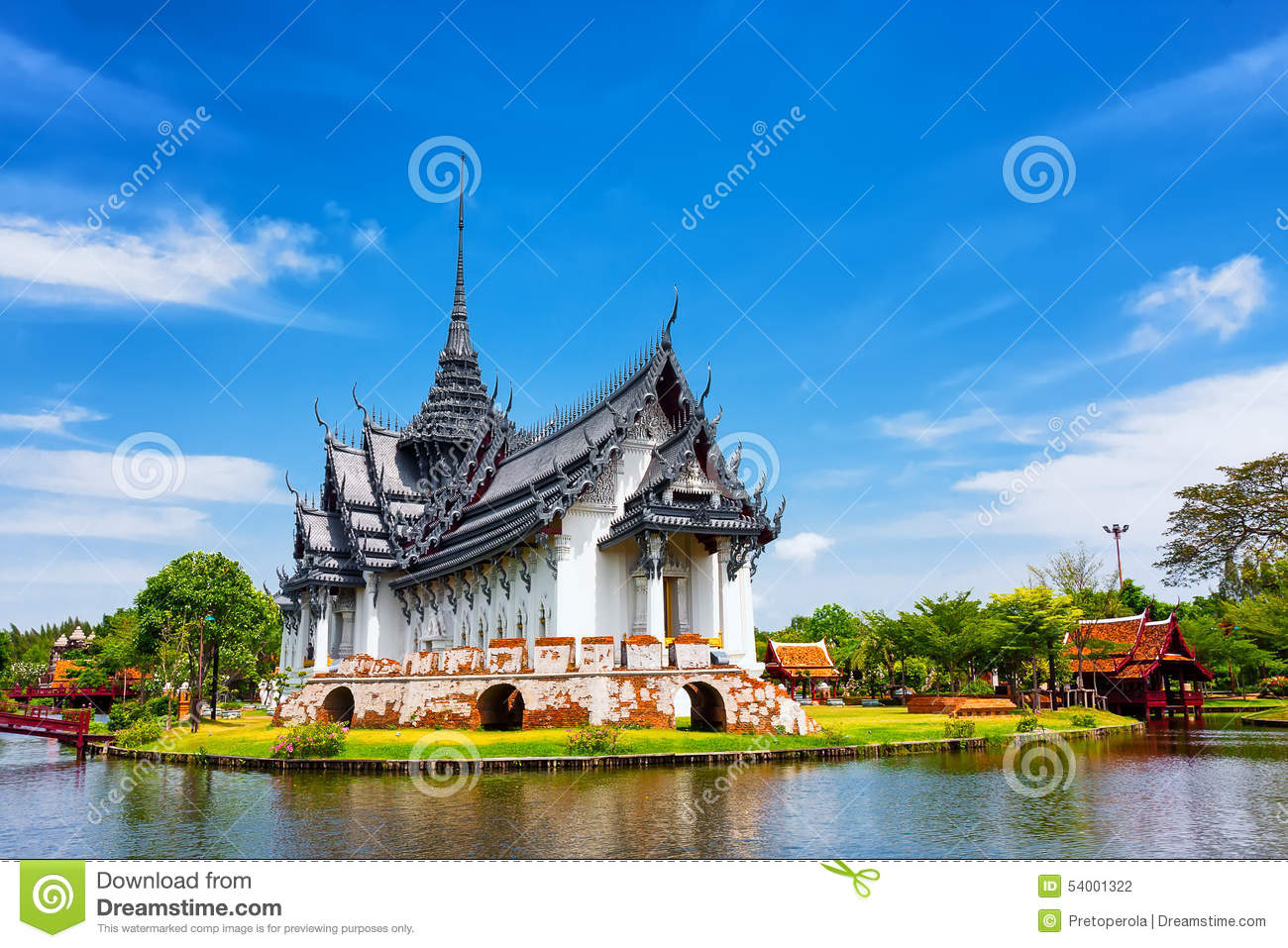 Palais de sanphet prasat ville antique bangkok photo stock image 54001322 for Dessin ville orientale