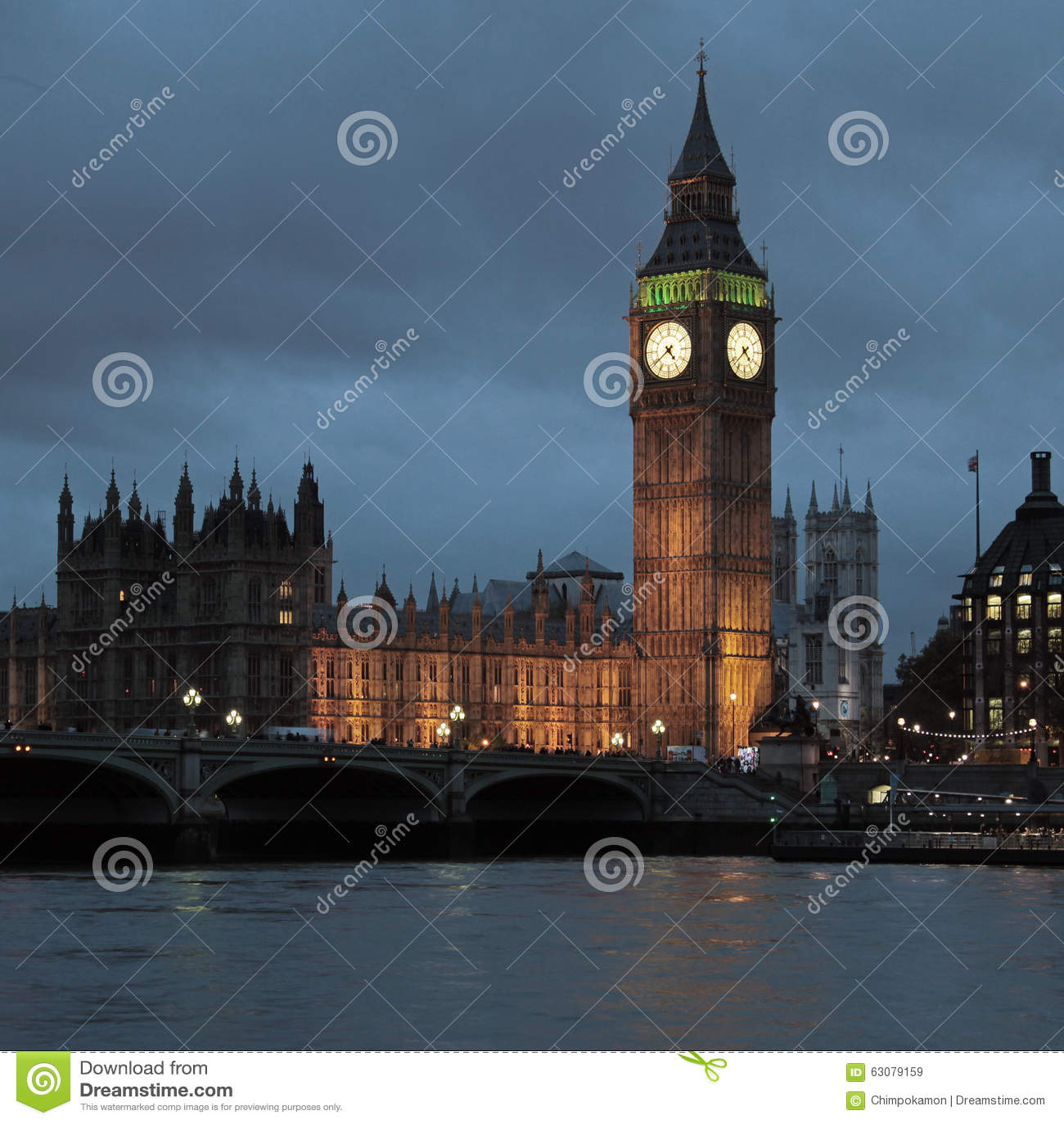 Download Palais de Westminster image stock. Image du royaume, thames - 63079159
