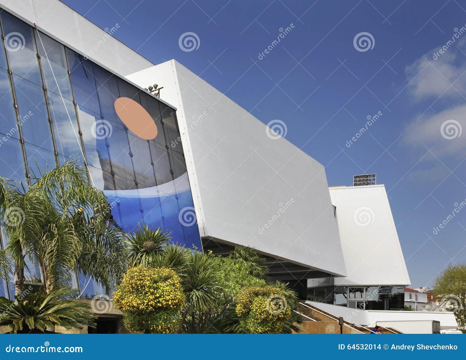 Palais des-festivaler och des Congres i Cannes france