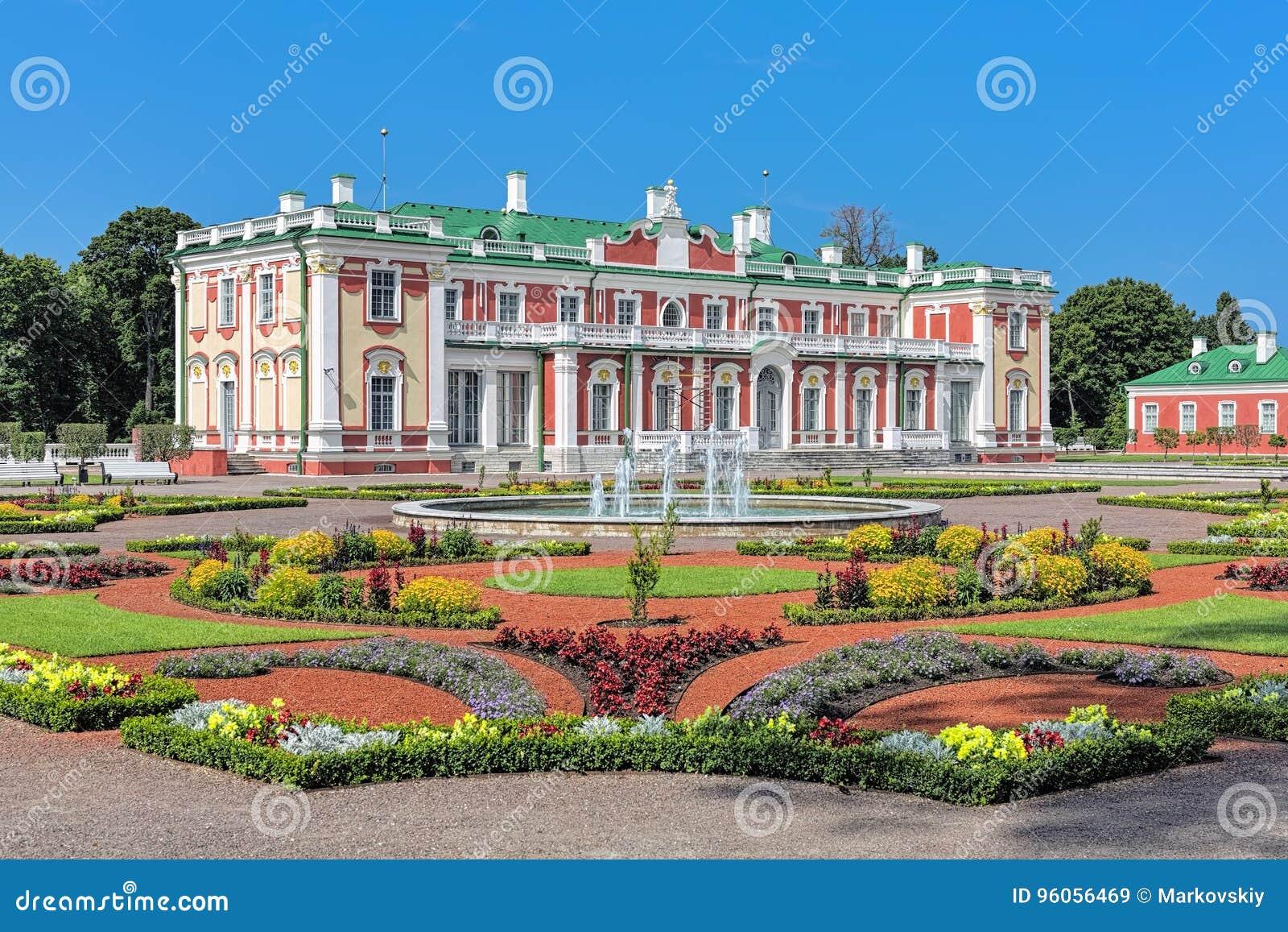 Palais et jardin d agrément de Kadriorg à Tallinn, Estonie
