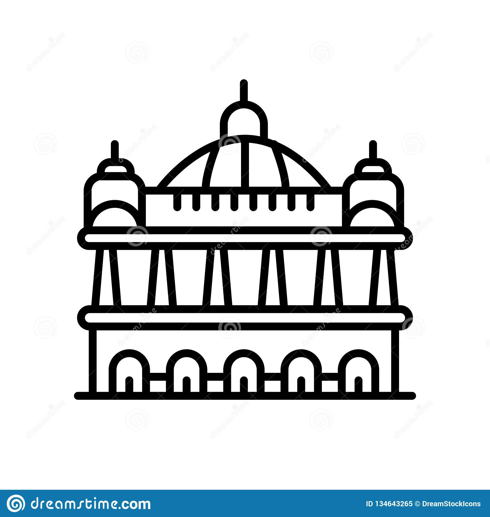 Palais Garnier icon vector isolated on white background, Palais Garnier sign , line or linear sign, element design in outline