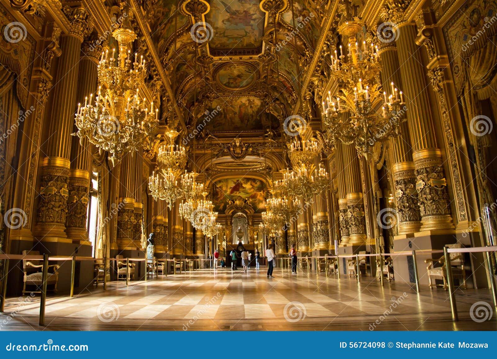 Paris Opera House Grand Foyer : Palais garnier interior grand foyer editorial stock photo