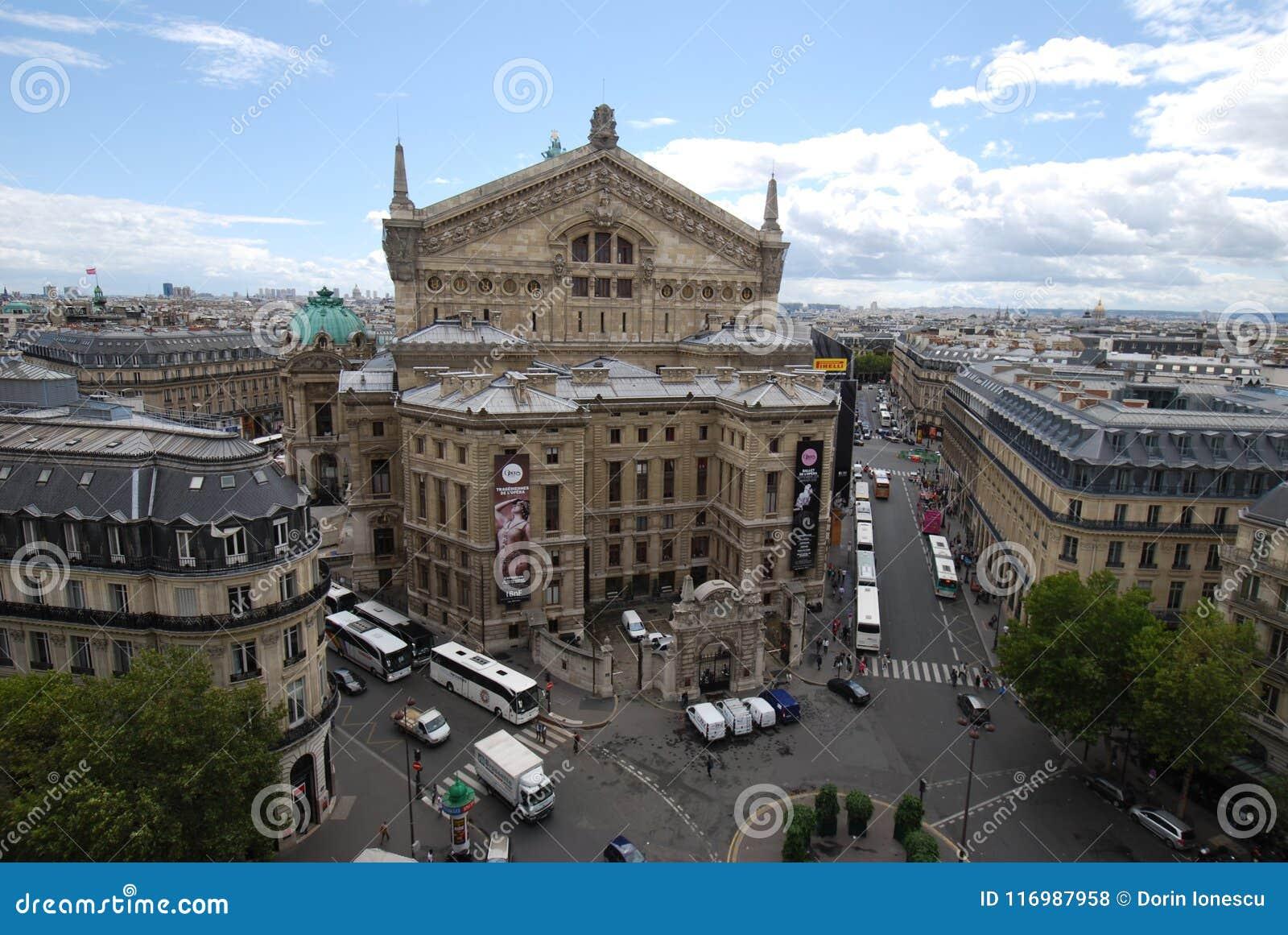 Palais Garnier, miasto, punkt zwrotny, metropolia, miasteczko
