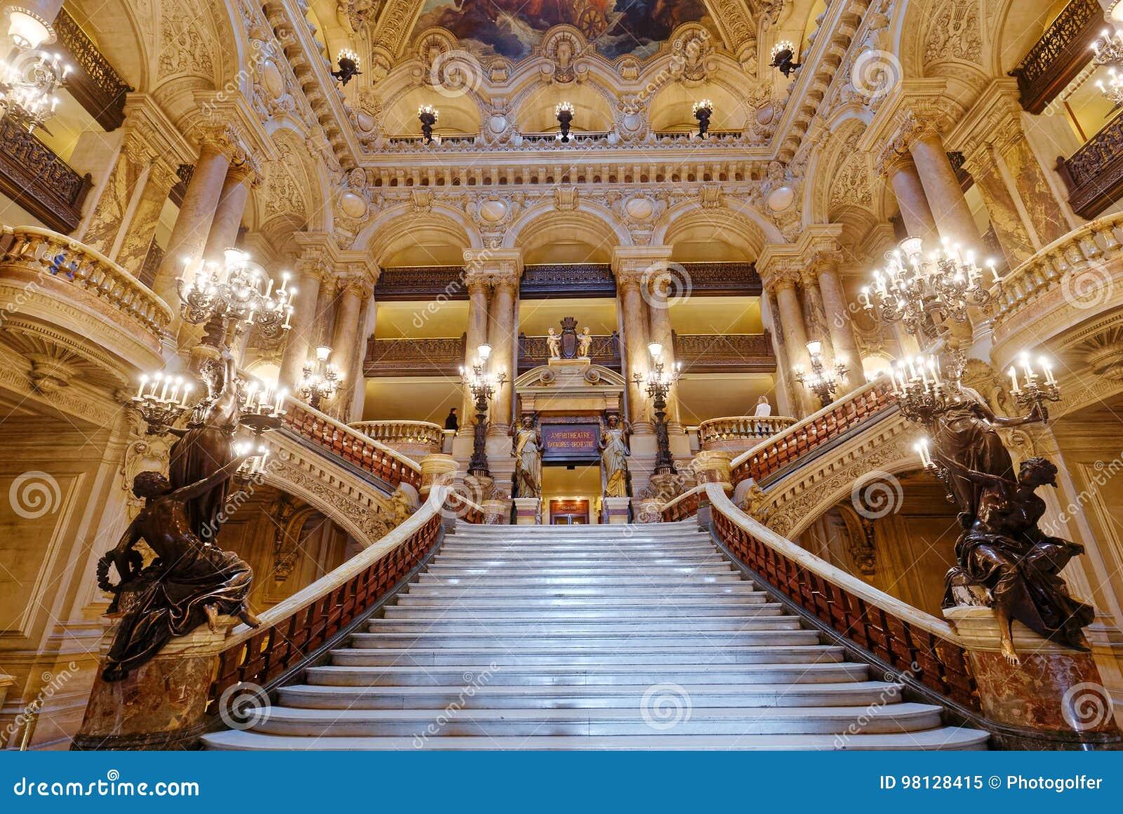 The Palais Garnier Opera Of Paris Interiors And Details Editorial