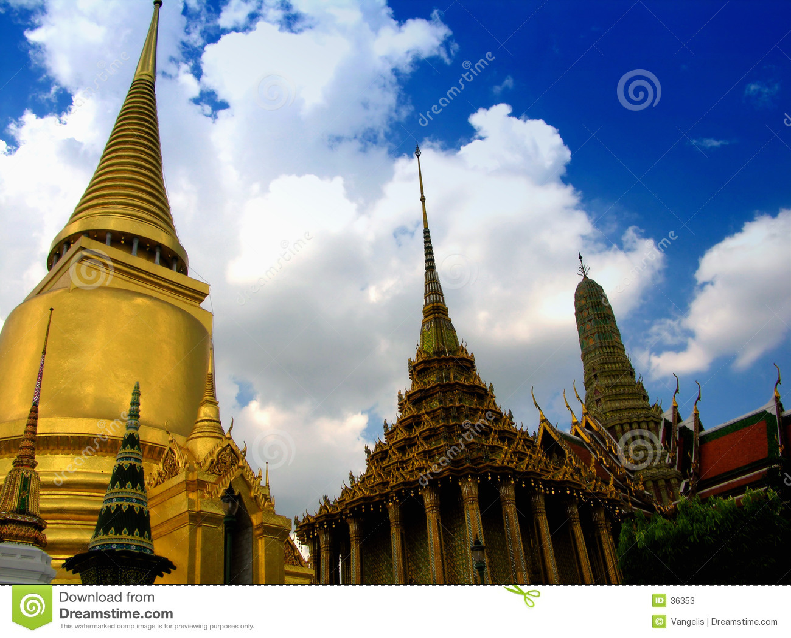 Palais grand fabuleux et Wat Phra Kaeo - Bangkok, Thaïlande 1