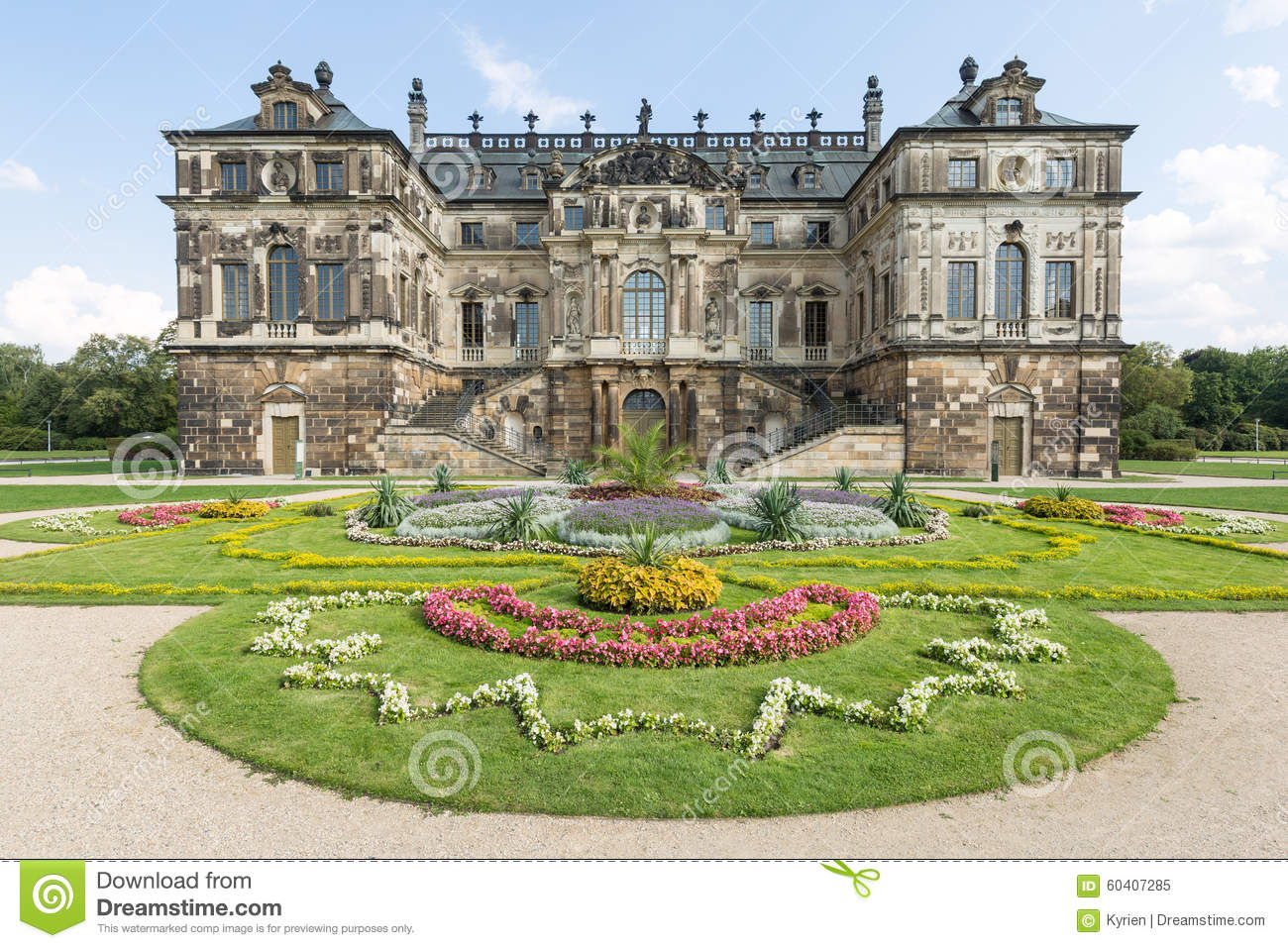 The Palais In Großer Garten Dresden Germany Stock Image Image Of