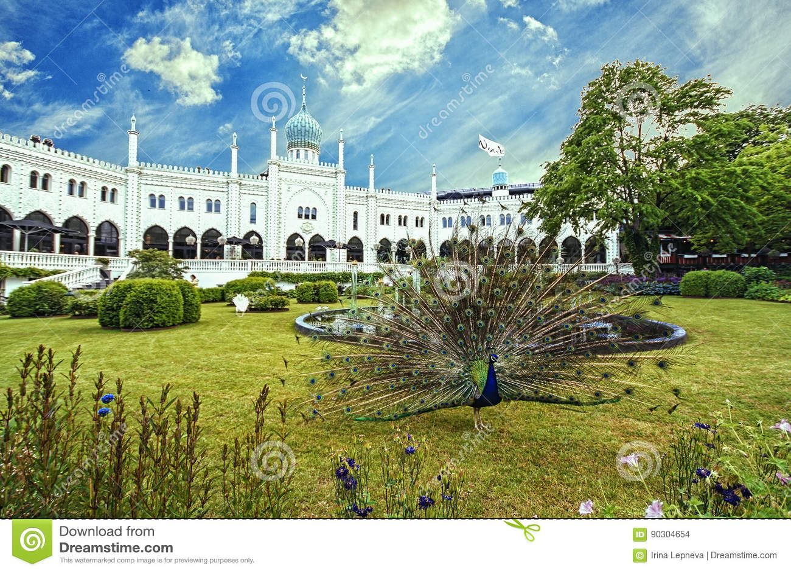download palais mauresque dans des jardins de tivoli copenhague photo stock image du beau - Jardins De Tivoli