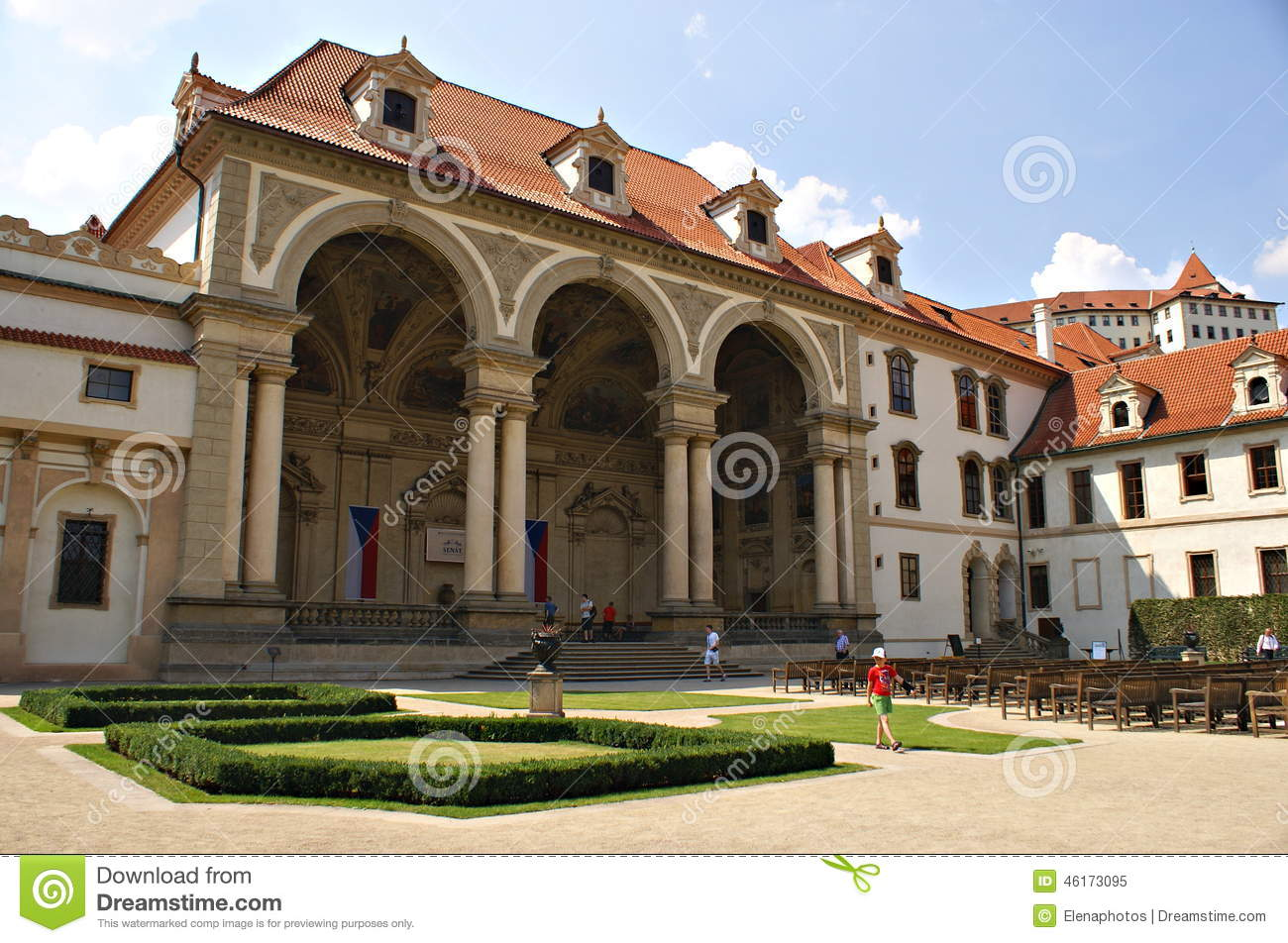 Palais prague de wallenstein et le jardin s nat de la for Jardin wallenstein prague