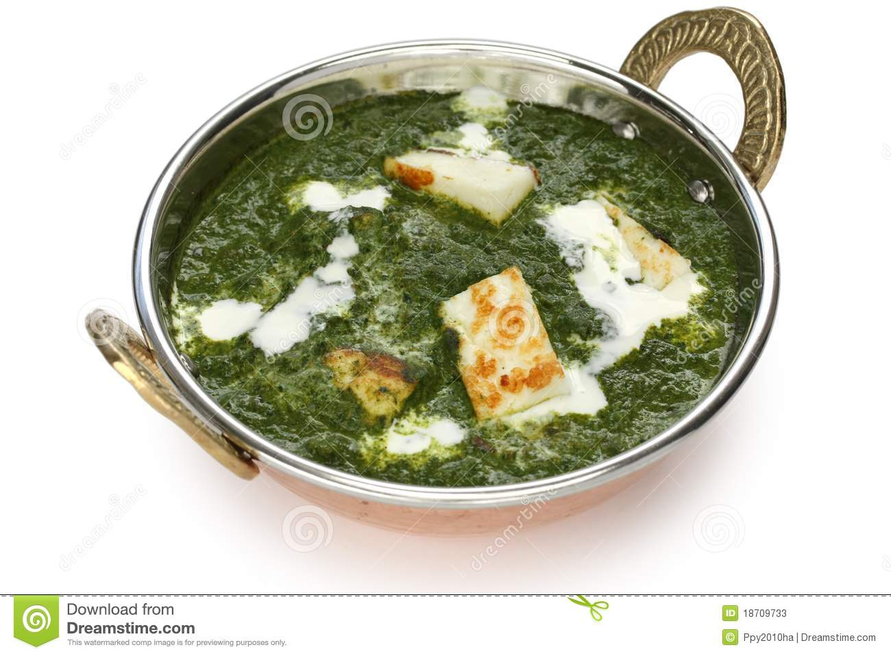Palak Paneer , Spinach And Cheese Curry , Indian F Stock Photos ...
