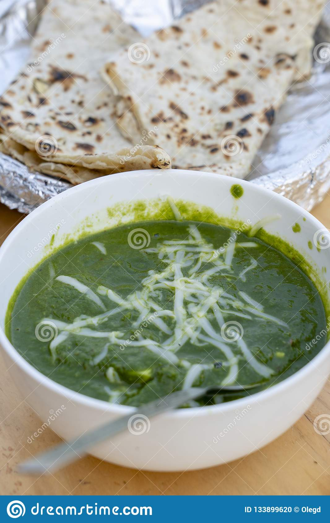Palak Paneer Or Spinach And Cottage Cheese Curry Is A Healthy Main