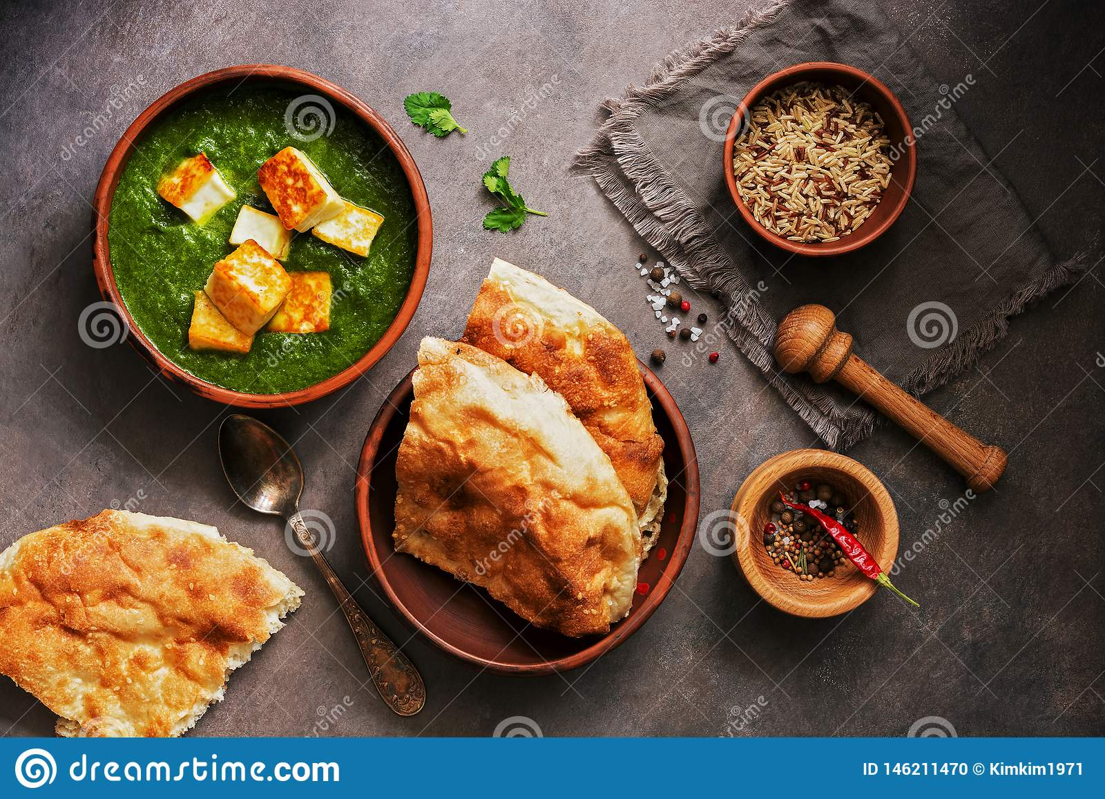Incredible Palak Paneer Or Spinach And Cottage Cheese Curry Mortar With Home Interior And Landscaping Analalmasignezvosmurscom