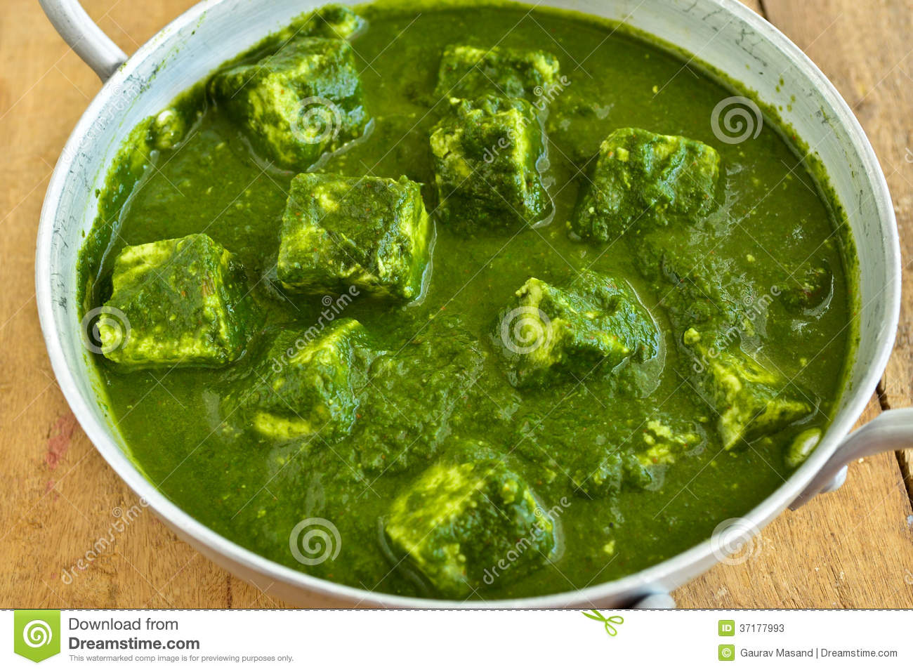 Palak Paneer Is A Traditional Popular Indian Dish Of Spinach & Cheese.