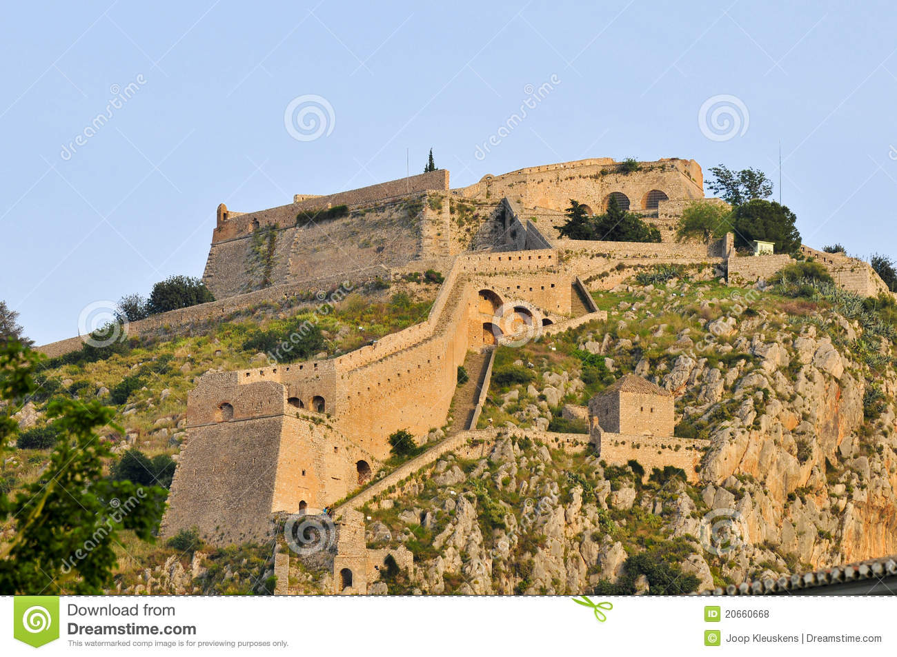 Palamidi Fortress, Nafplio, Greece Royalty Free Stock ...