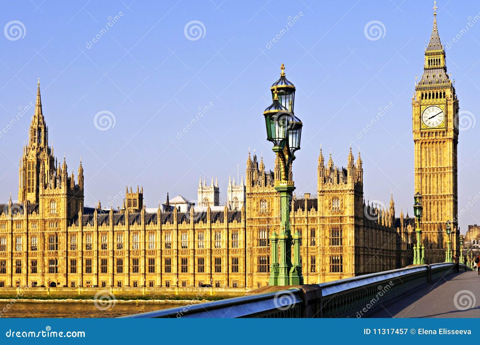 Palast von Westminster von der Brücke
