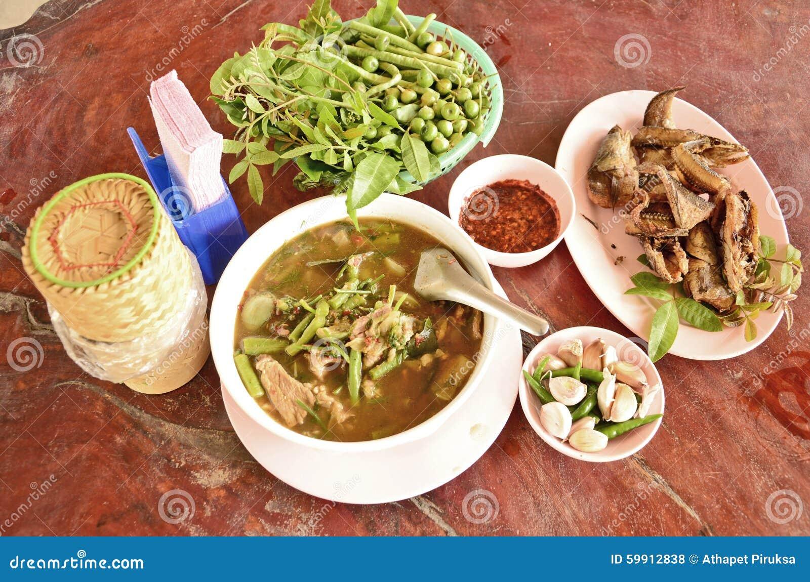 Palatable Thai local food set