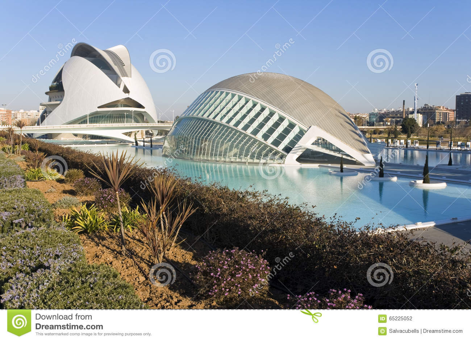 Palau De Les Sztuka i Hemisferic w Walencja, Hiszpania